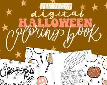 Halloween Coloring Book/Digital/Coloring Book