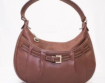 Vintage LONGCHAMP Brown Leather Shoulder Bag de6142b0e43d9