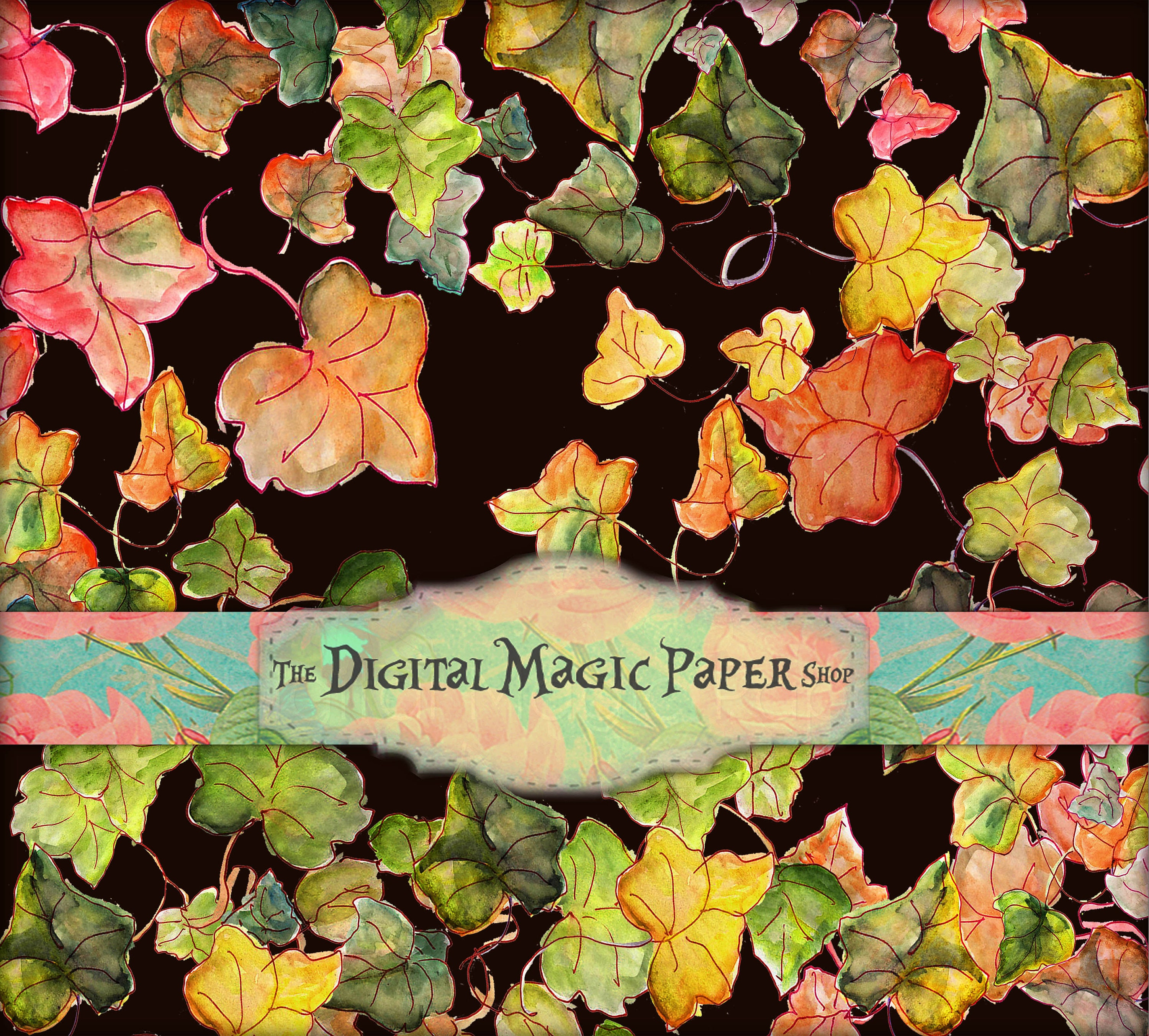 Watercolor Fall Autumn Botanical Clipart Watercolour Leaves Etsy