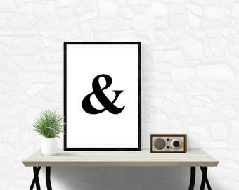 And Sign,Ampersand Sign,Printable,Ampersand Poster,Wall Art,Minimalist