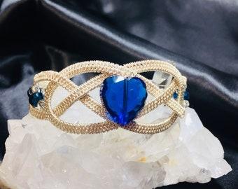Love Knot - celtic wirewrapped bracelet