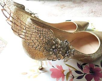 Angel Shoe Clips, Bridal Shoe Clips, Wedding Shoe Clips, Shoe Clips