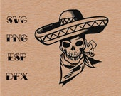 Mexican Skeleton Day Of Dead , Vector, SVG, Clipart ,Digital Download ,Circuit Cut ,Cutting