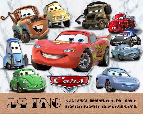 Disney Car Clipart Disney Clipart Transparent Background Etsy