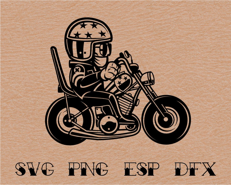 Digital Download Vector Biker Lifestyle Silhouette Cutting SVG Circuit Cut Clipart