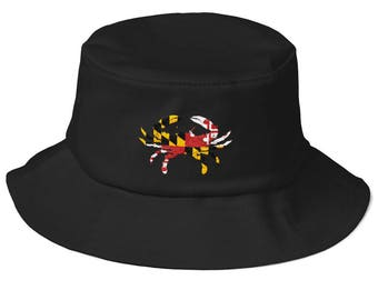 5eab0856302e08 Maryland Flag Crab Bucket Hat