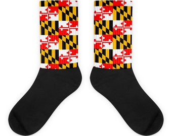 Maryland Flag Checker Pattern Socks