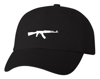 87011aa5c4b AK-47 Choppa Unstructured Baseball Dad Hat Strap back Adjustable Many  Colors Available