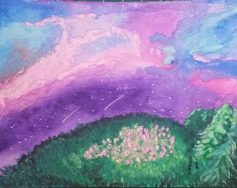 ORIGINAL Space + Field | Watercolour