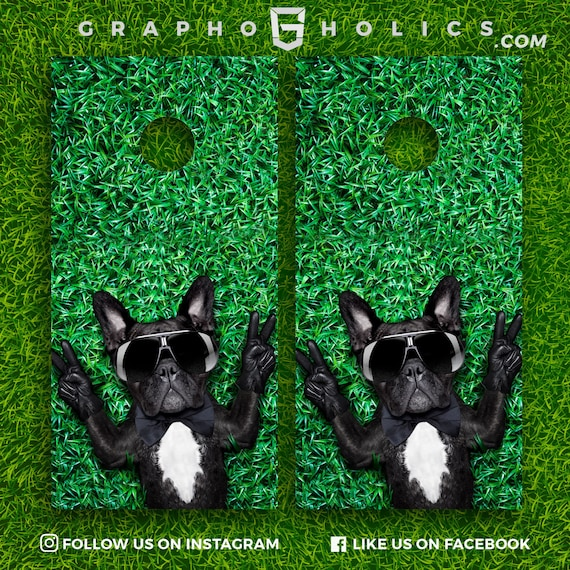 Set of 2 High Quality Laminated Cornhole Boards Wraps 24x48 inch\u2013 Unique Designs Your Family Name #2 /& US Flag Background Custom Graphics