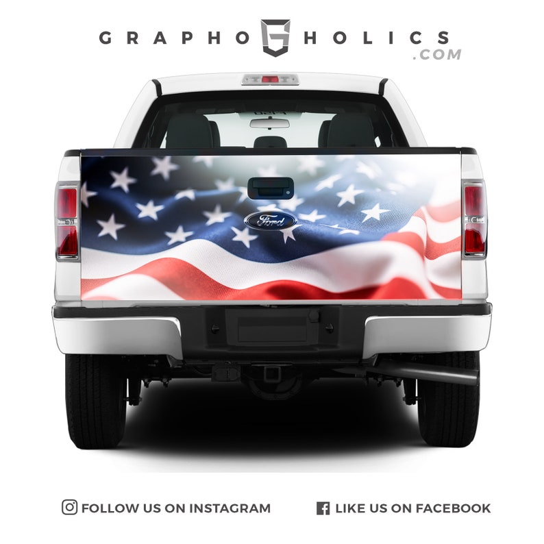 USA Chicago Pick-Up Truck Tailgate Wraps