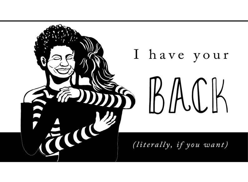 Hand-Drawn Greeting Card I Have Your Back