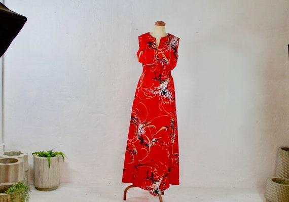 60s 70s Vintage Hawaiian Dress