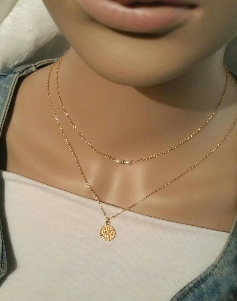 culture day woman/'s birthday gift idea neck shave beads woman necklace freshwater pearl necklace pearl necklace gold necklace