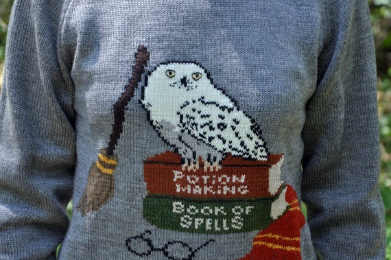 Harry Potter Sweater Hedwig Sweater Hogwarts Pullover Etsy