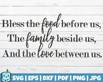 image relating to Bless the Food Before Us Printable known as Bless the food items prior to us printable Etsy