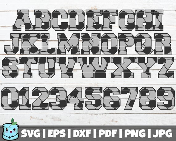 Soccer Svg Letters And Numbers Svg Cut File Commercial Use Etsy