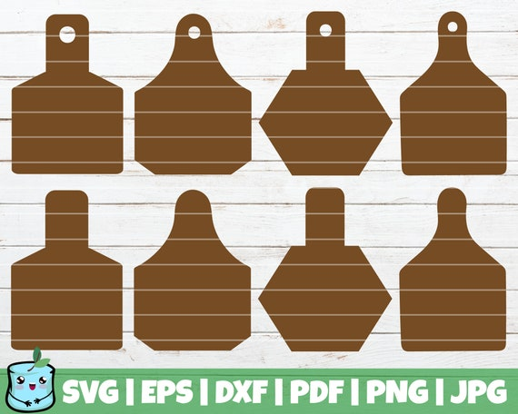 Cow Ear Tags Svg Cut Files Commercial Use Instant Download Etsy