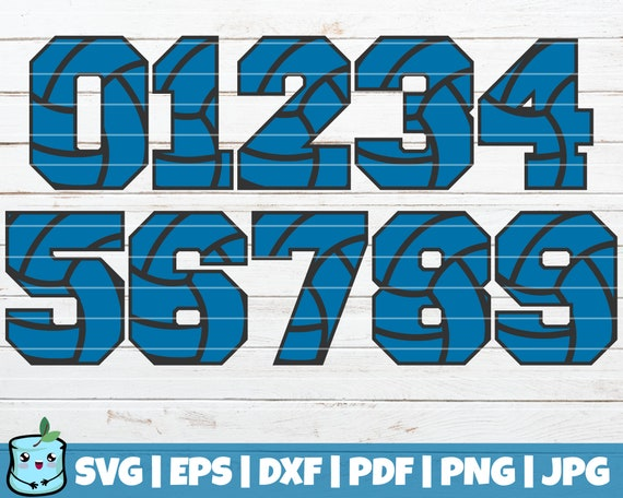 Volleyball Numbers Svg Cut Files Commercial Use Instant Etsy