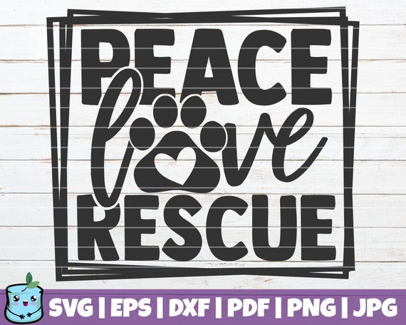 Peace and Love SVG Bundle Clip Art Vector Digital Download Commercial Use