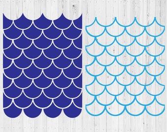 2 Seamless Mermaid SVG cut files | Seamless Mermaid Scale Pattern | instant download | printable cut file | vector clip art | silhouette