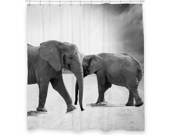 Elephant Shower Curtain 72 X 66