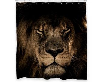 Lion Shower Curtain 72 X 66