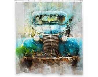 Car Shower Curtain 72 X 66