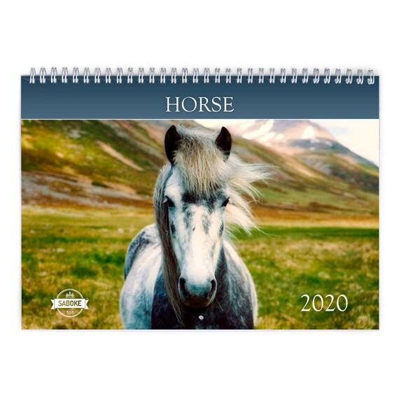 Wall Calendar Mini Calendar Horse 2018 Wall Calendar: Horse Photography 8.5 x 8.5 Cute Calendar