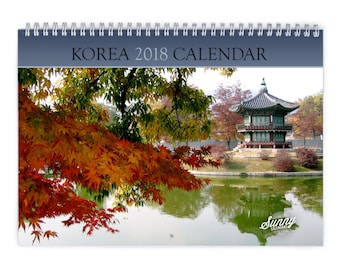 Korea 2018 Wall Calendar