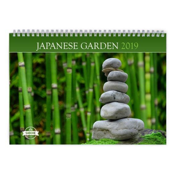 Japanese Garden 2019 Wall Calendar | Etsy