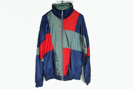 281cb388b777 Vintage 80s Puma windbreaker XL   Mens Retro Shell Jacket