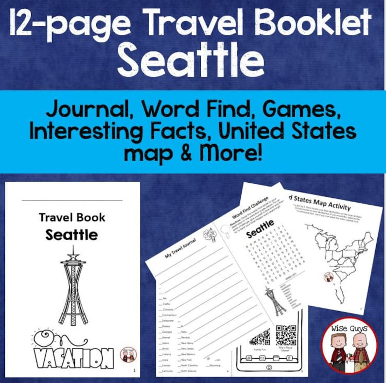 Seattle Vacation Travel Booklet