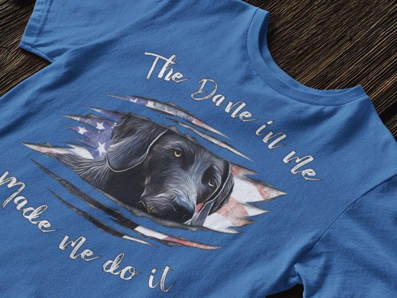 The Great Dane In Me Made Me Do It T-Shirt Funny Gift for Dog Moms and Dads Unisex Bella Canvas Soft Cotton Tee Dog Owners and Lovers