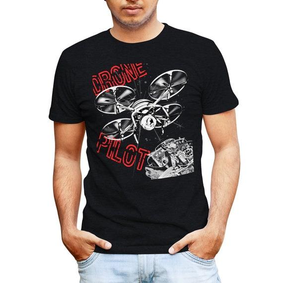 Unisex Cotton T-Shirt Quadcopter Drone Pilot Shirt Drone Pilot Gift Part 107 Drone Operator Tee Drone Racing TShirt RPV FPV UAV
