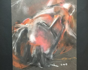 life drawing• charcoal&pastels•head•portrait