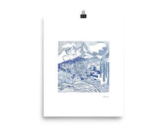 Alpine landscape, Mountain Forest Poster