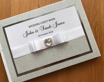 silver wedding guest books