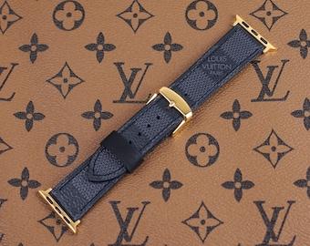 8e8c242030 LV Apple Watch Band Series 1 2 3 4 Louis Vuitton Apple Watch Band Damier  Graphite Black