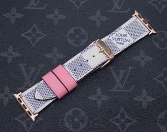 692f9c74d56 LV Apple Watch Band Series 1 2 3 4 Louis Vuitton Apple Watch Band Damier  Azur Pink