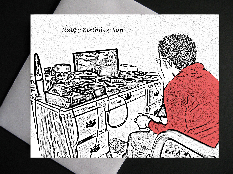 African American Birthday Card Black Son Birthday Card Etsy