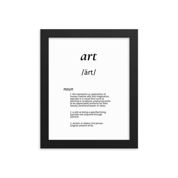 Framed Art Definition Word Art   Wall Art   Framed Print