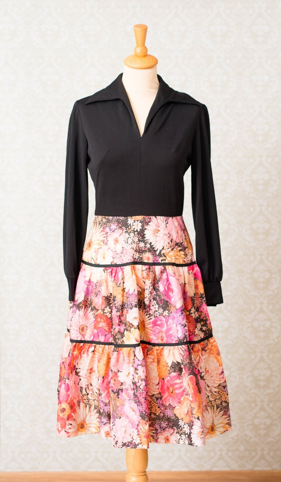 Herman Marcus Tiered Skirt Dress