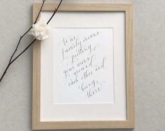 Calligraphy Wall Art [frame included]