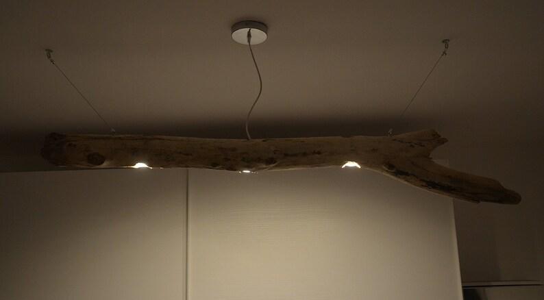 Lampadario con legno di recupero lampade con legno del mare