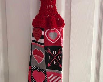 Valentines Hanging Kitchen Towel