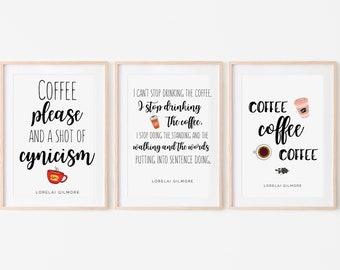 Gilmore Coffee Quote Etsy