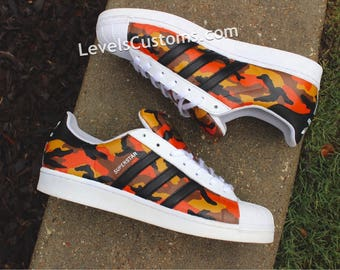 hot sale online 40e36 ef33e Custom Color Camo Superstar Adidas