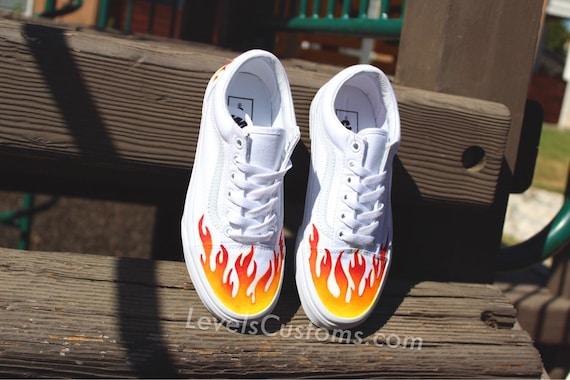 رقيق إستمتع مثير vans custom flame