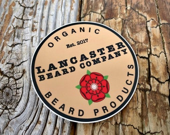 "Lancaster Beard Company 3"" Label Sticker"